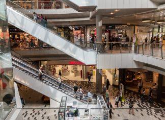 centrum handlowe schody ruchome shopping mall
